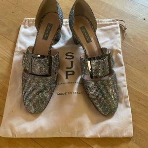 SJP Anahita silver heels